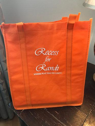 Reusable Shopping Tote, orange