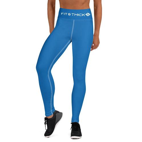 Energy Blue Yoga Leggings