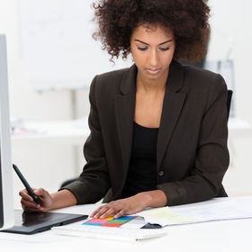 Attractive African American businesswoma
