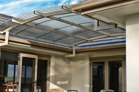 Curved Home Canopy. Polycarbonate Roof.