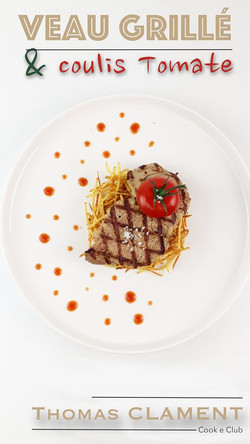 veau grillé tomate