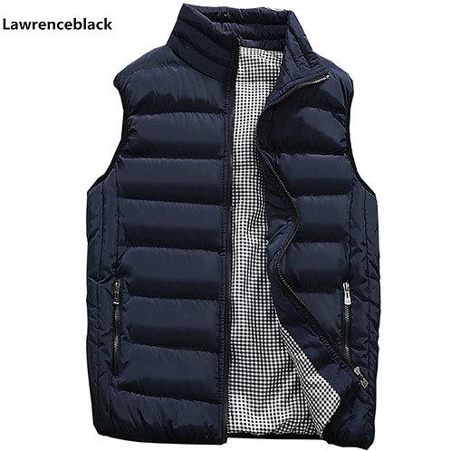 Mens Jacket Sleeveless Vest Winter Fashion Casual Slim Coats