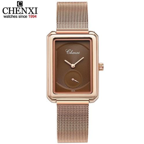 Women Watch Luxury Leather & Steel Band Waterproof Watches