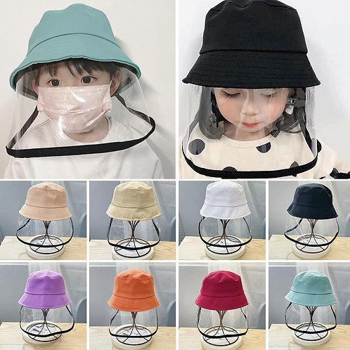 Children Kids  Visor Shield Bucket Hat Face Cover