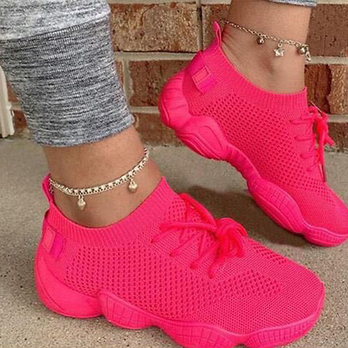Casual Sportswear Bandage Round Sport Shoes