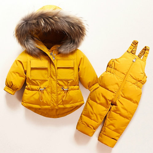 Winter Children Clothing Set Baby Boy Girl Clothes Jacket Coat Jumpsuit