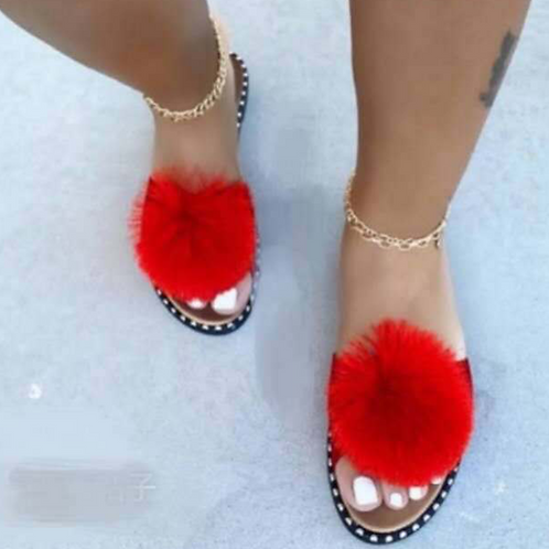Red Sexy Casual Hollowed Out Split Joint Opend Comfortable Out Door Shoes
