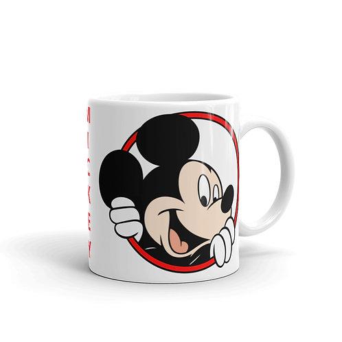 White Glossy Mickey Mouse Mugs