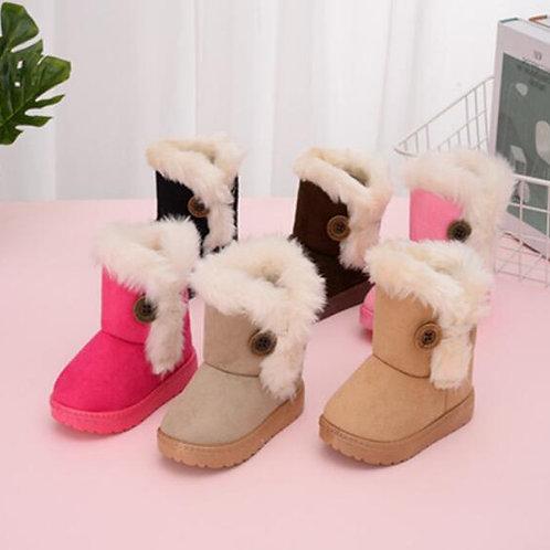 Warm Kids Snow Boots Winter Princess Child Shoes Non-Slip