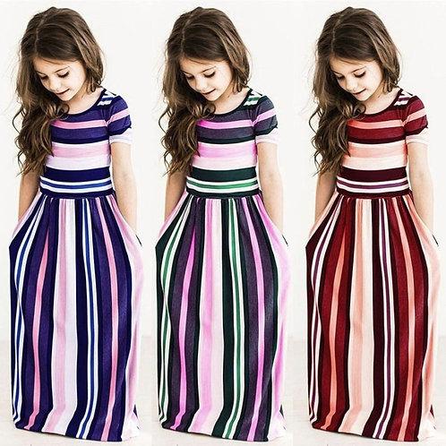Kids Dresses for Girls Toddler Baby Girls Striped Beach Strap