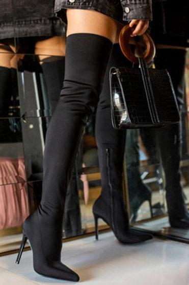 Women Over the Knee High Boots Hoof Heels
