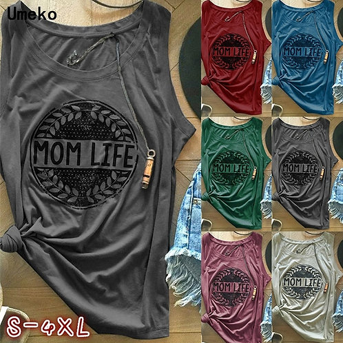 Women Tank Tops O-Neck Tank  Sleeveless