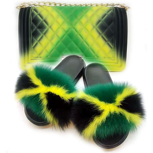Fur Slides and Bags