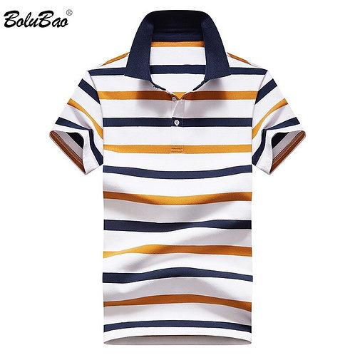 Men Striped Polo Shirts Summer  Fashion  Polo Shirt