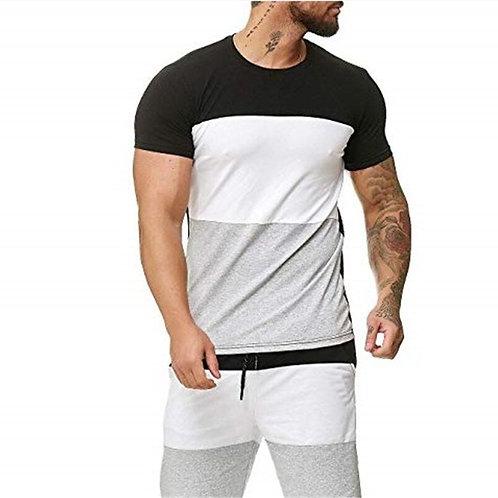 Men's Striped Suit 2 Pieces Fashion Casual Mens Sets