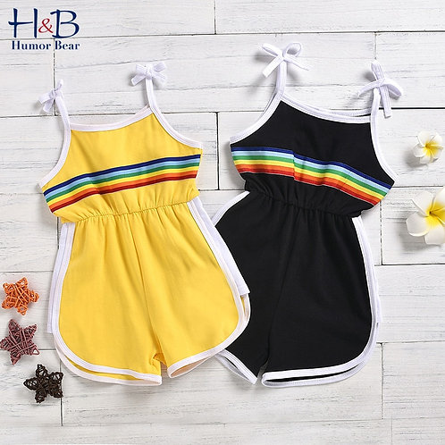 Summer Boy Girls Sleeveless Sling Jumpsuit Sports Toddle