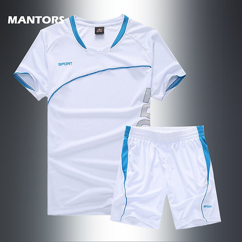 Men Two Piece Set Print T-Shirts+Shorts