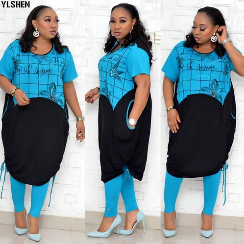 2 Piece Set Africa Clothing  Ladies Plus Size