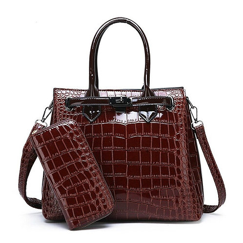 Women Luxury Handbag Shoulder Bag High Quality Classic Crocodile Pattern