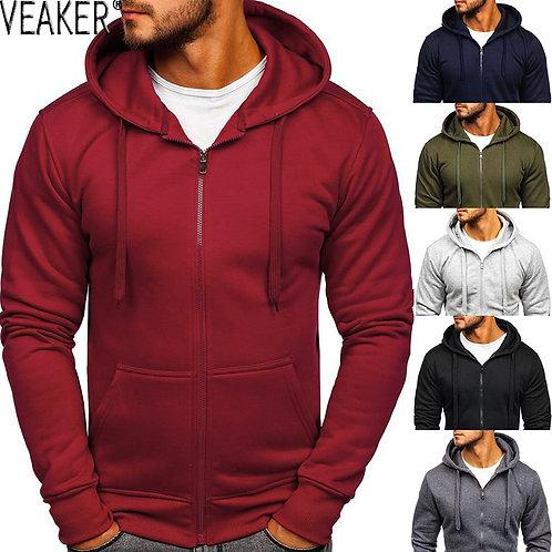 Men's Casual Zipper Hoodies Sweatshirts