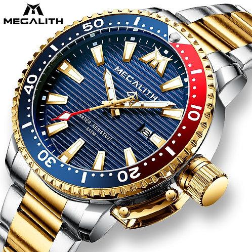 Gold Full Steel Watches Men