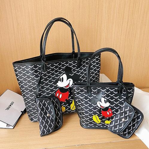 2pcsDisney Mickey Mouse Shoulder Bag + Cosmeitc Bag