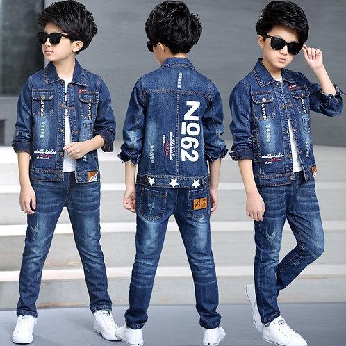 Children's Clothing Boy Suit Denim Suit Two Sets
