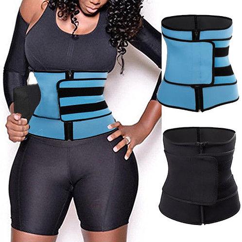 Men Women Tummy Waist Trainer Cincher Sweat Belt Trainer