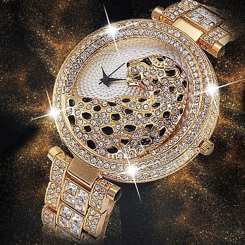 Women Quartz Watch Fashion Bling Casual Ladies Watch  Gold