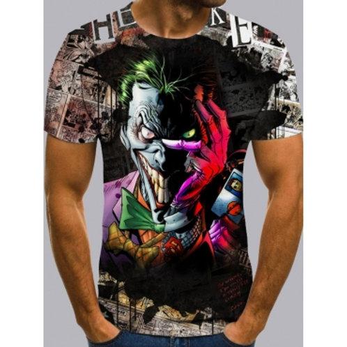 Men Street O Neck Clown Print Multicolor T-shirt