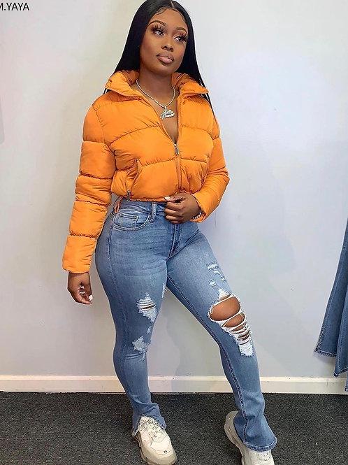 Women Vintage Hole Hollow Out Skinny Jeans Streetwear Split Flare Denim Pants