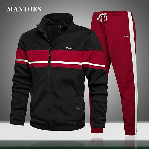 Mens Tracksuit Set  Autumn Winter New Male Outfits Sets Gym