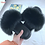 Thumbnail: Women Furry Slippers Ladies Shoes Cute Plush Fox Hair Fluffy Sandals
