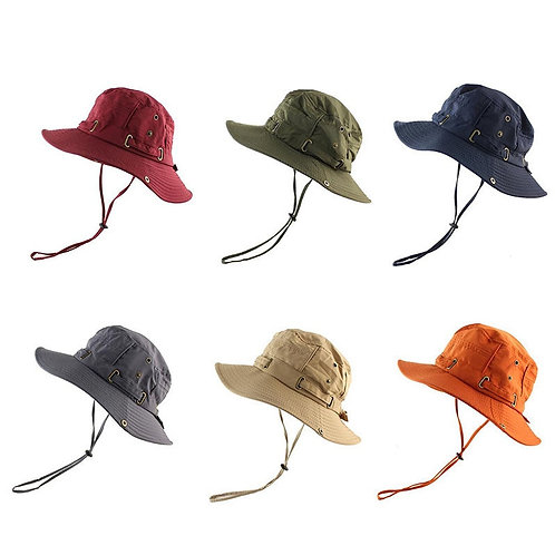 Men's Solid Color Fisherman Hat  Sun Visor Hat Cotton
