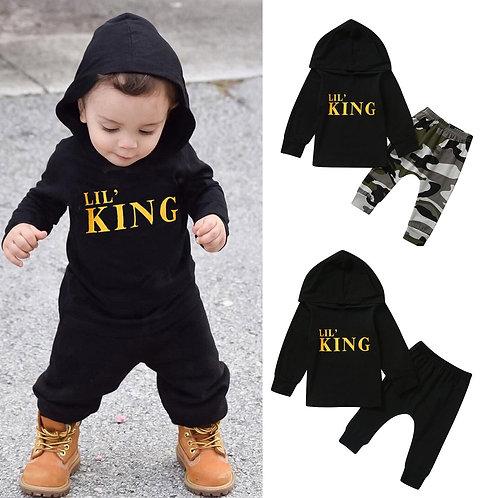 Baby Boy Letter Hoodie T Shirt Pants Outfits Clothes Set  Children's Suit