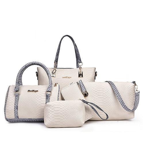 5pcs Bag Set for Women Leather Fashion Shoulder Crossbody Messenger Bags