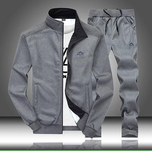 Men Tracksuit Solid Sportswear 2 Piece Set