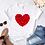 Thumbnail: Heart Flower Print Ladies T-Shirt Ladies