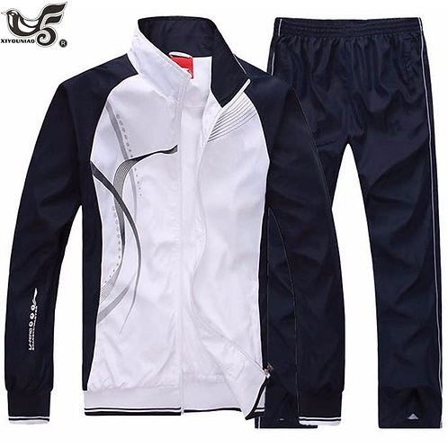 Men's Set Sportswear 2 Piece Sport Suit Jacket+Pant Sweatsuit