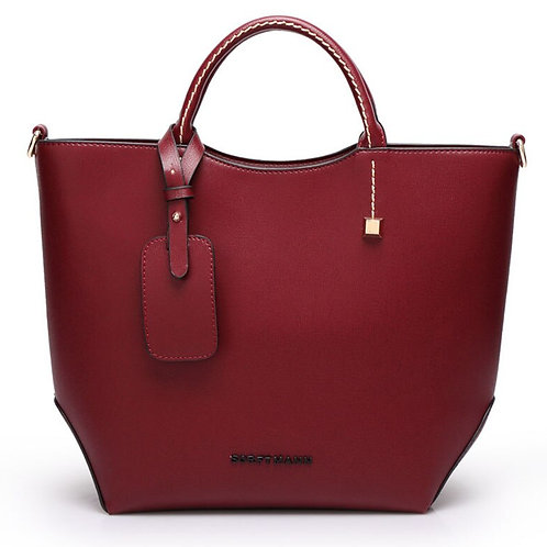Valenkuci Big Leather Women Retro Handbags Large Capacity