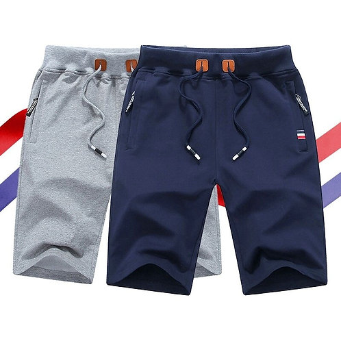 Shorts Men Casual Elastic Waist Shorts  Jogger Short Sweatpants
