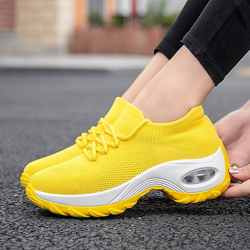 Platform Sneakers Women Flats  Breathable Casual Shoes