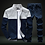 Thumbnail: Men Sets Fashion Sporting Suit Brand Patchwork Zipper Sweatshirt +Sweatpants