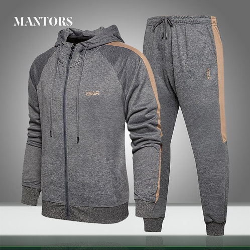 New Brand Men Sets Casual Hooded Tracksuit
