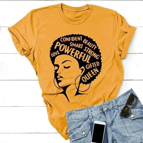 O Neck T Shirts for Female Women's Letter Print Short Sleeve