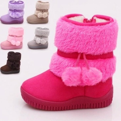 Girls Snow Boots  Comfortable Thick Warm Kids Boots