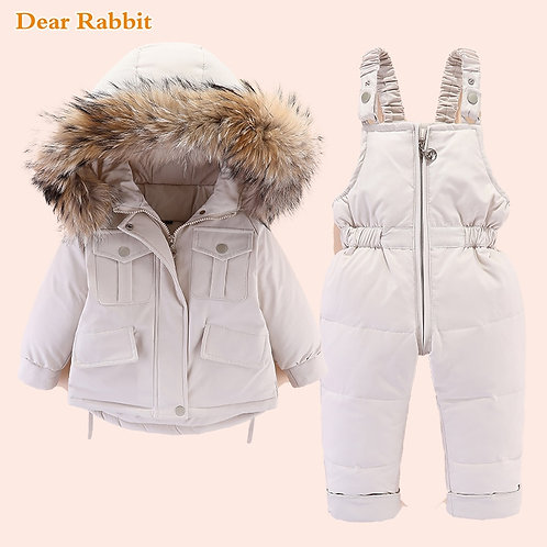 Winter Down Jacket for Girl Clothes Kids Overalls Snowsuit