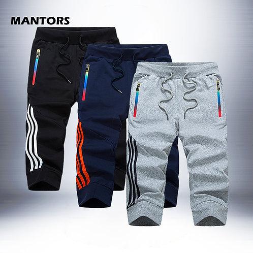 Men Stripe Shorts Joggers