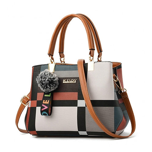 New Casual Plaid Shoulder Bag Fashion Stitching Wild Messenger Brand Female