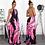 Thumbnail: Women Fashion Print Casual Maxi Dress Halter Backless Loose Long Dress